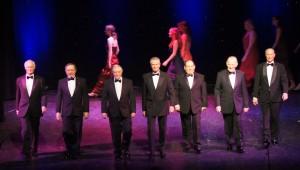 The men's walk-down…